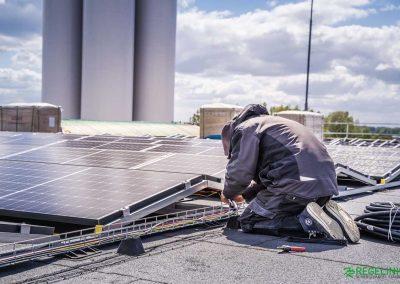 Opbouw zonnepanelen